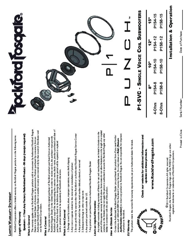 rockford fosgate p1s4