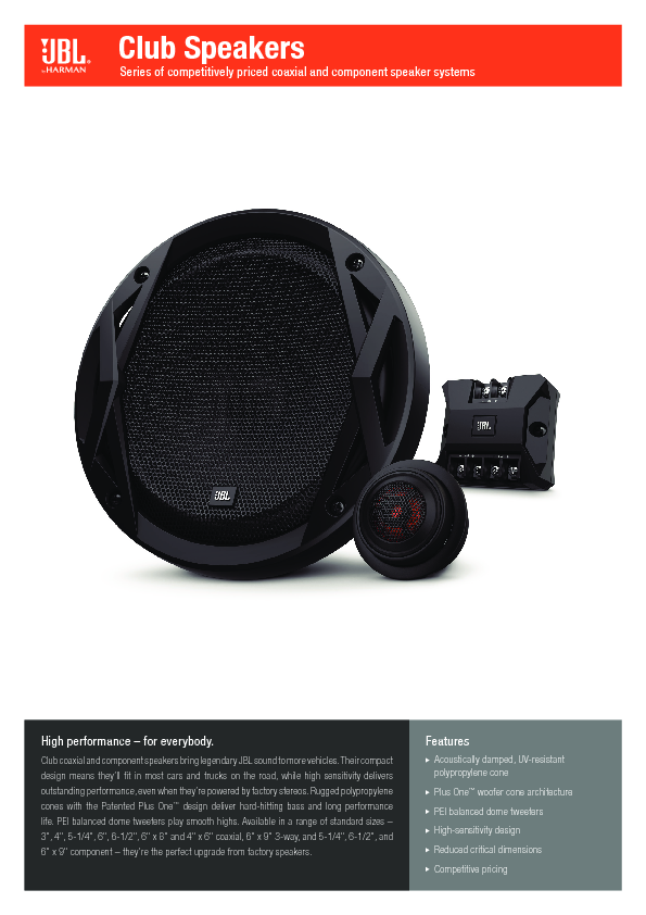 jbl club 5020 coassiali coassiali 130mm rg sound. Black Bedroom Furniture Sets. Home Design Ideas