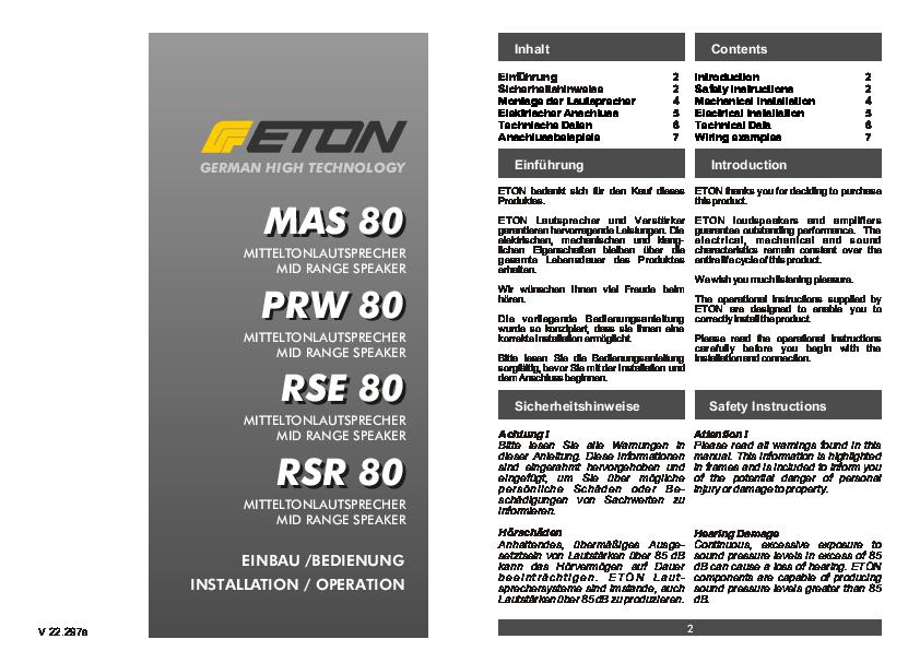 eton rse 80 upgrade sistema rse 160 da 2 a 3 vie. Black Bedroom Furniture Sets. Home Design Ideas