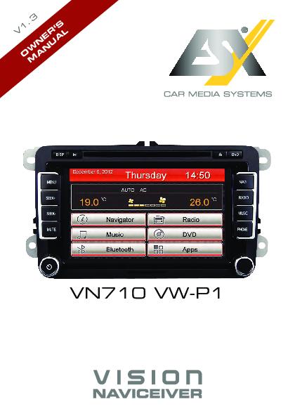 esx vn710 vw p1 monitor auto 1 e 2 din car multimedia. Black Bedroom Furniture Sets. Home Design Ideas