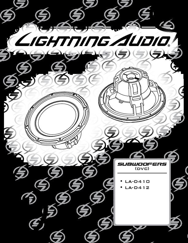 lightning audio la-d412 subwoofer doppia bobina