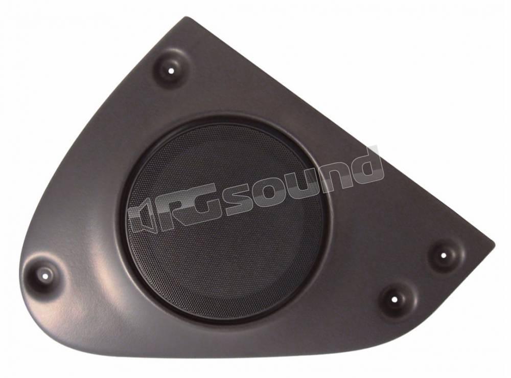 Coppia adattatori per casse acustiche Consulta la sezioneDESCRIZIONE per conoscere la compatibilit/à dei veicoli. Supporti altoparlanti adattatori anteriori diametro 165 mm