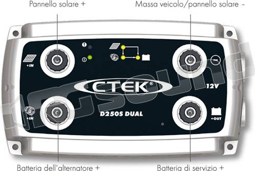 ctek d250s dual caricabatterie per servizi dc dc. Black Bedroom Furniture Sets. Home Design Ideas