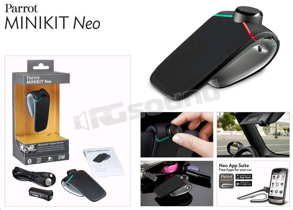 parrot minikit neo telefonia auto kit vivavoce rg. Black Bedroom Furniture Sets. Home Design Ideas