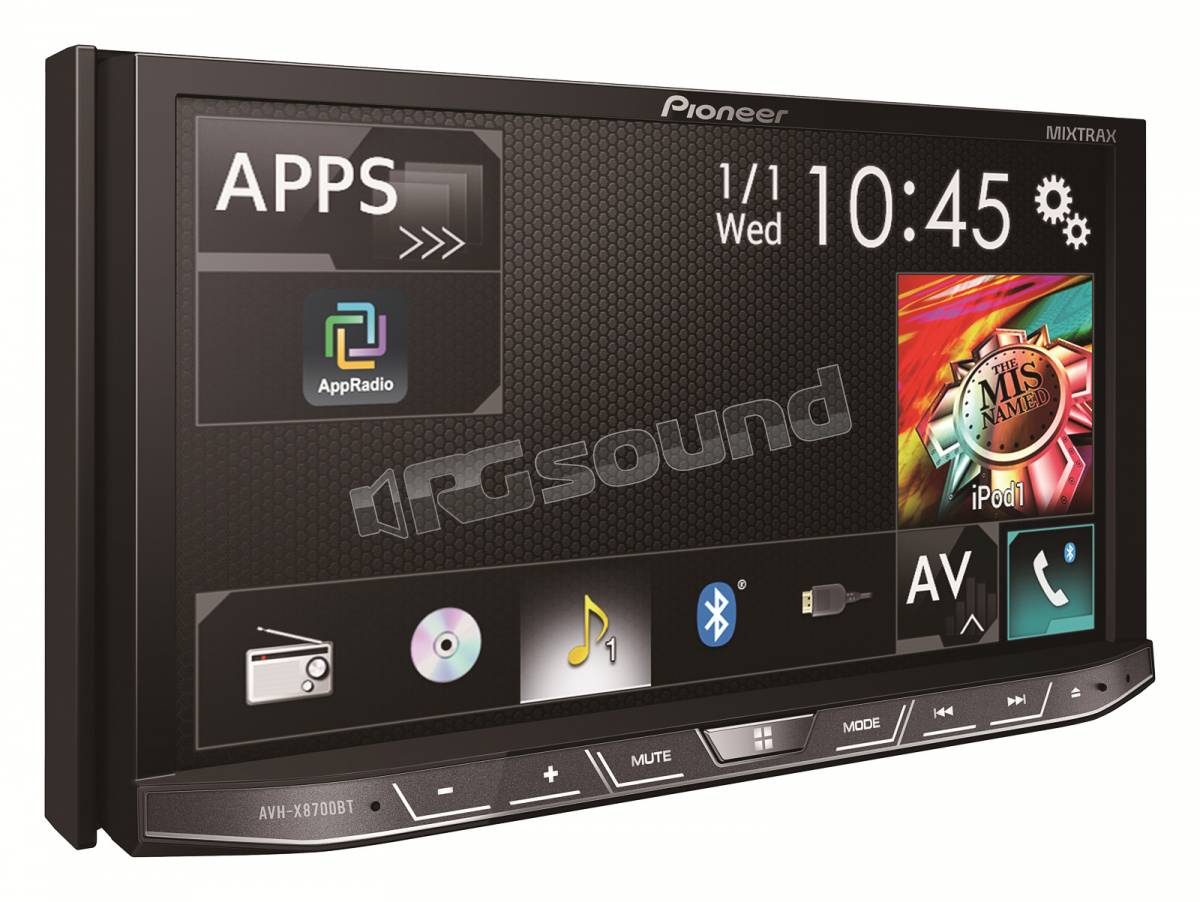 pioneer avh x8700bt bluetooth mirrorlink apple carplay android a rg sound store. Black Bedroom Furniture Sets. Home Design Ideas