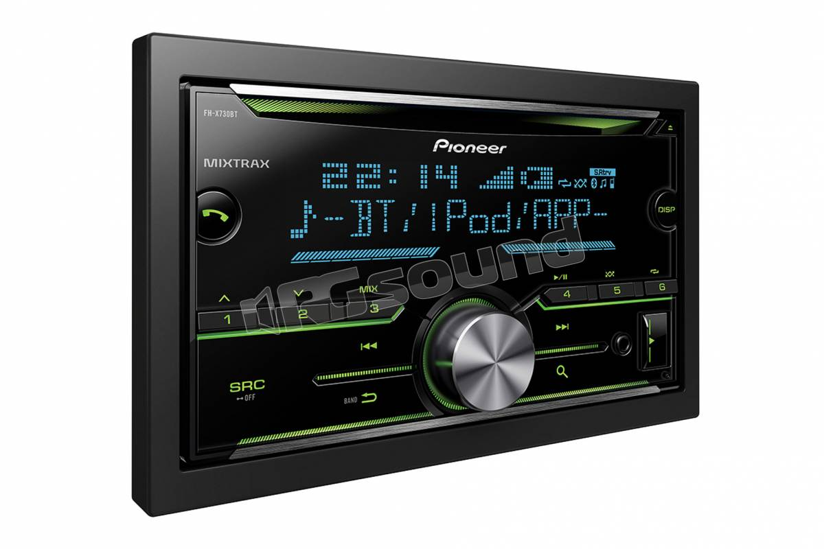 pioneer fh x730bt autoradio 1 din e 2 din autoradio 2. Black Bedroom Furniture Sets. Home Design Ideas