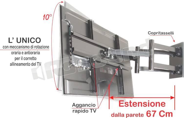 Prandini 518 supporti tv lcd plasma proiettori - Supporti per specchi a parete ...