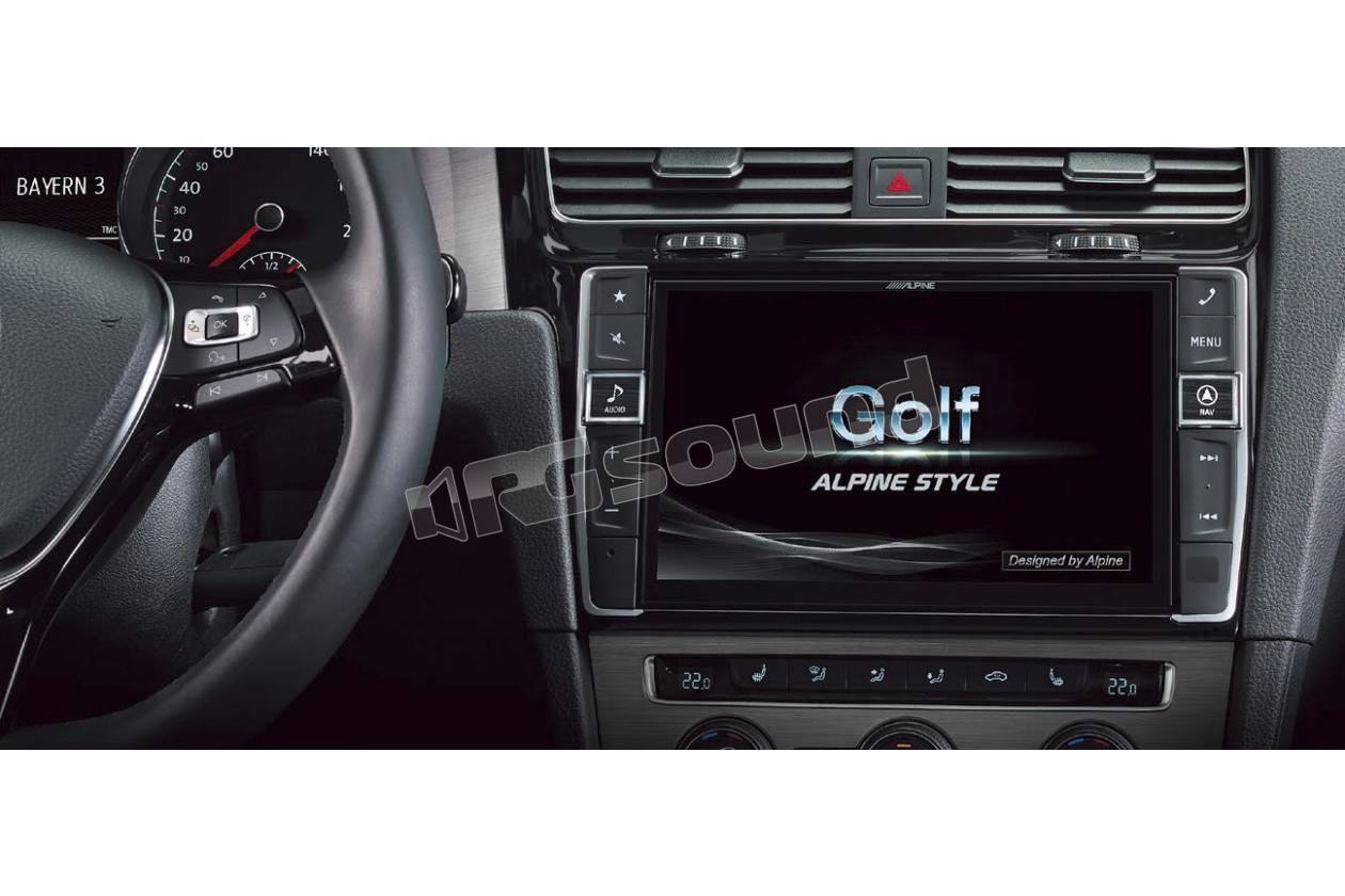 alpine x901d g7 monitor navigatore 9 dedicato per vw golf. Black Bedroom Furniture Sets. Home Design Ideas