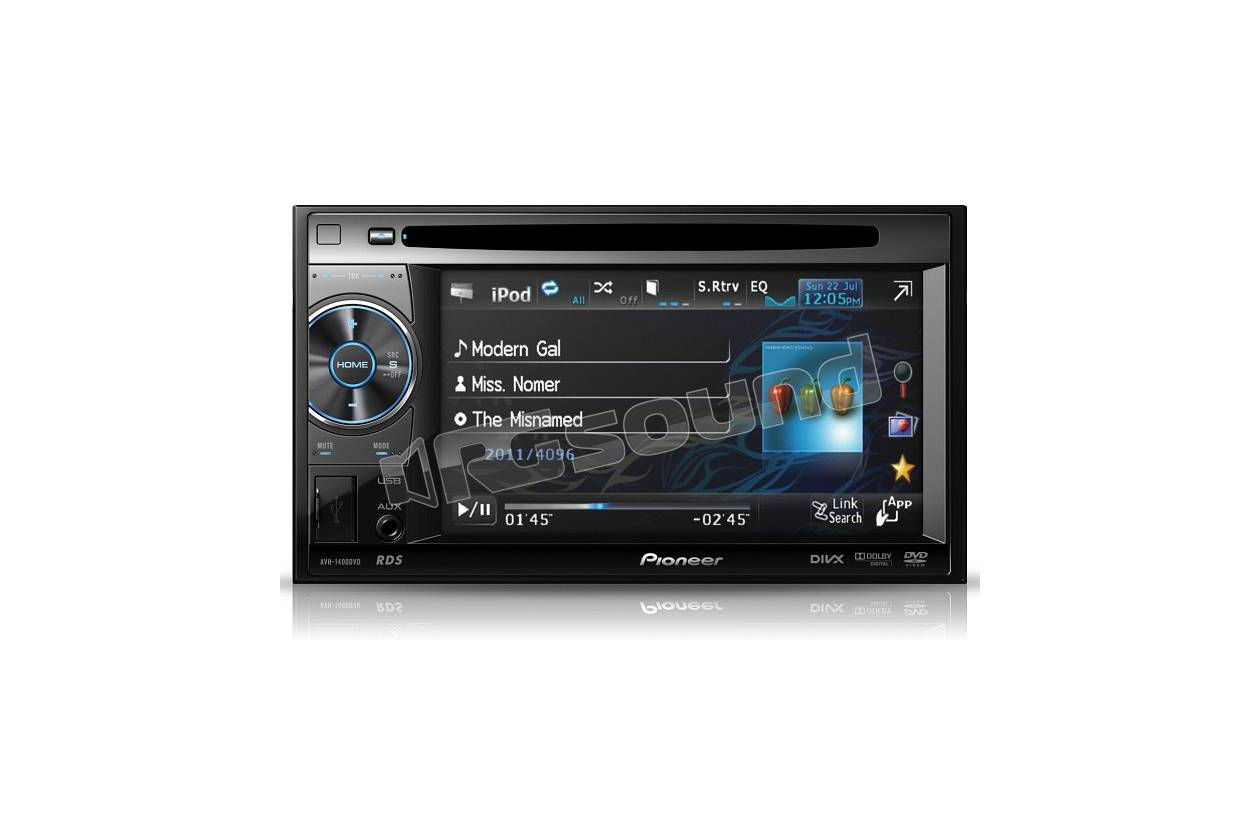 pioneer avh 2400bt monitor auto 1 e 2 din car multimedia monitor rg sound store. Black Bedroom Furniture Sets. Home Design Ideas