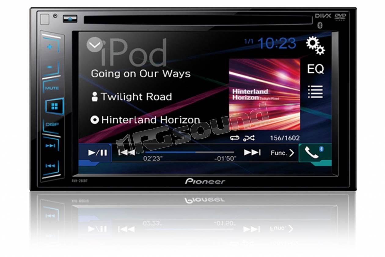 pioneer avh x2800bt monitor auto 1 e 2 din car. Black Bedroom Furniture Sets. Home Design Ideas