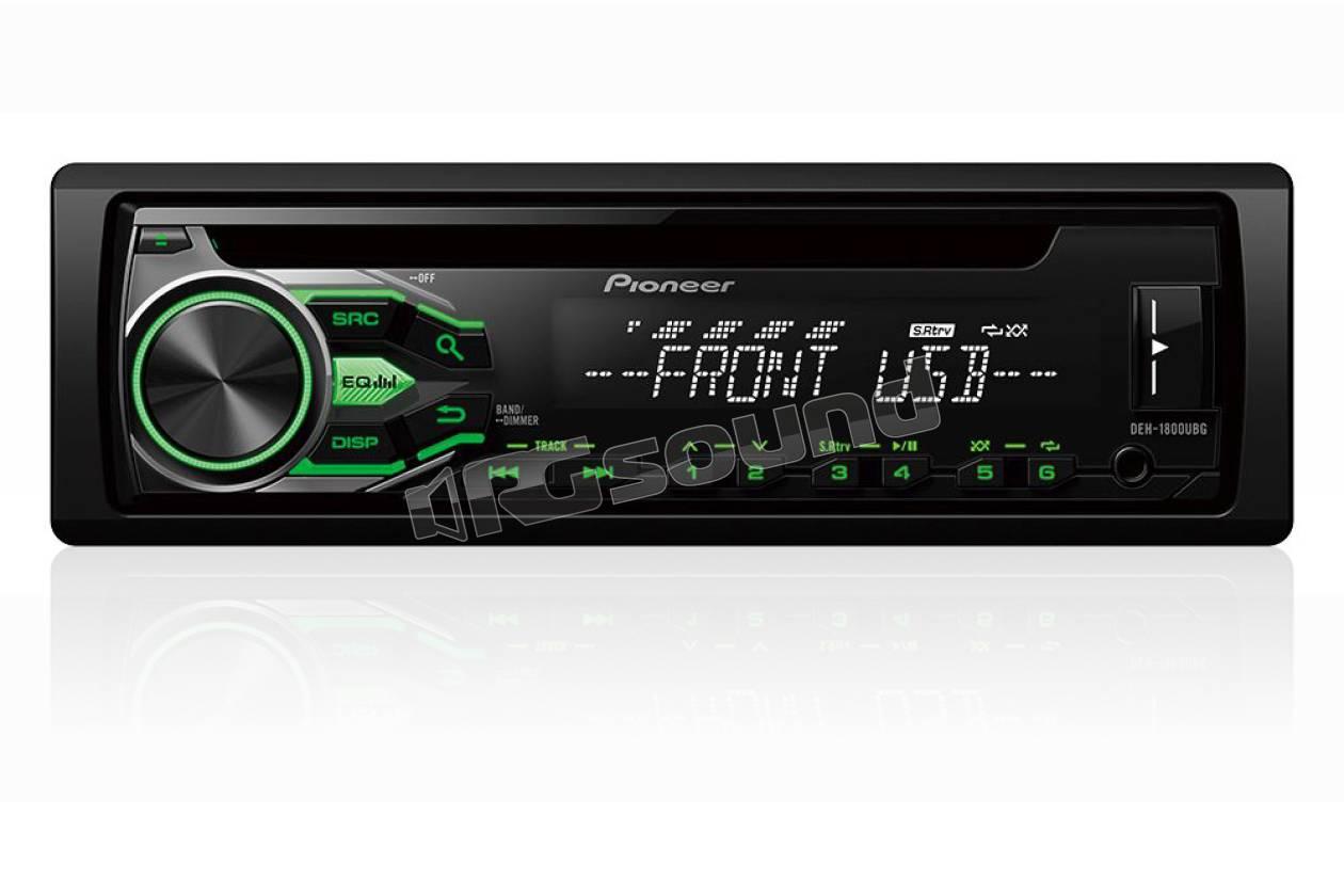 Pioneer deh ubg rds cd usb aux in illuminazione verde