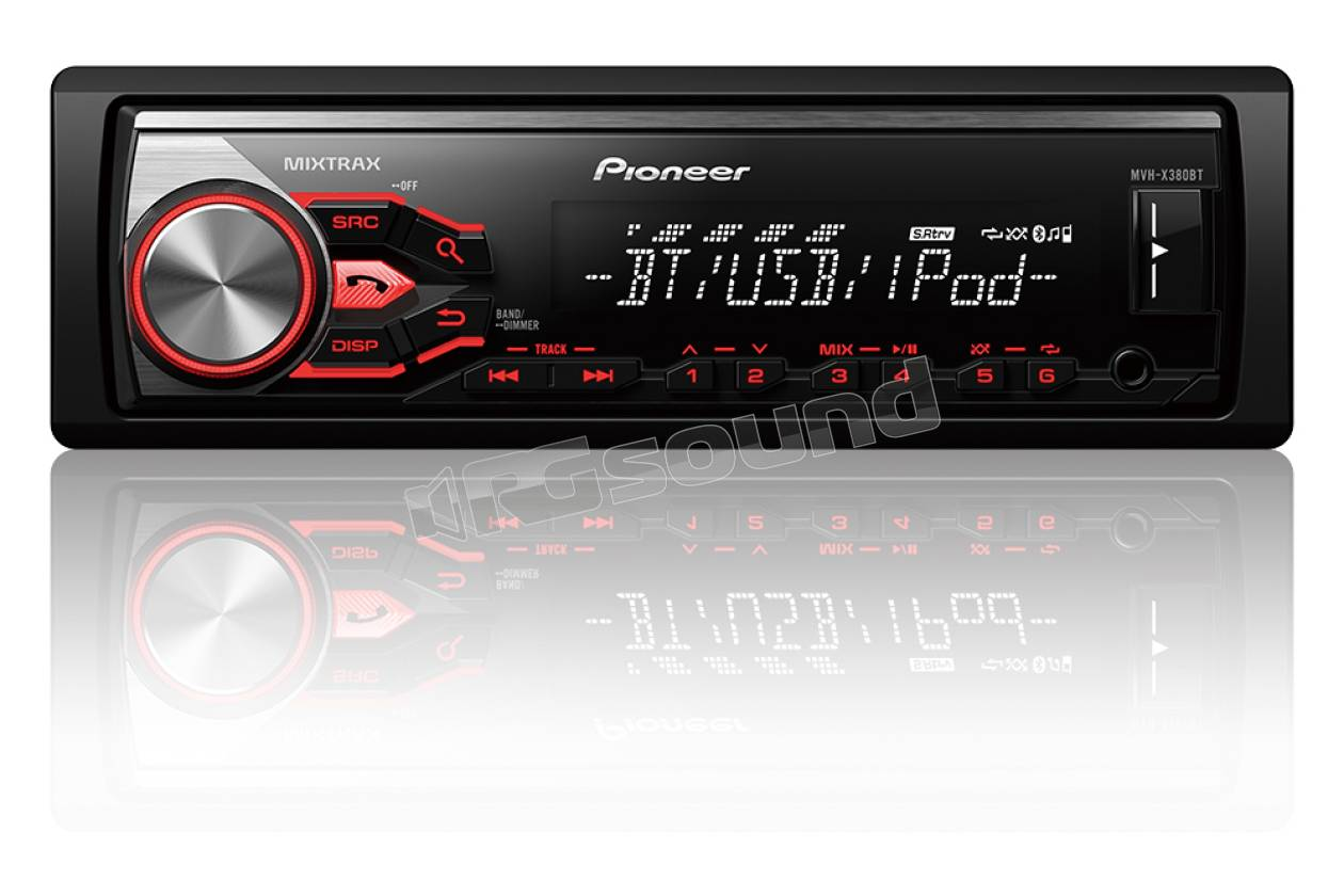 pioneer mvh x380bt autoradio 1 din e 2 din autoradio 1 din rg sound store. Black Bedroom Furniture Sets. Home Design Ideas