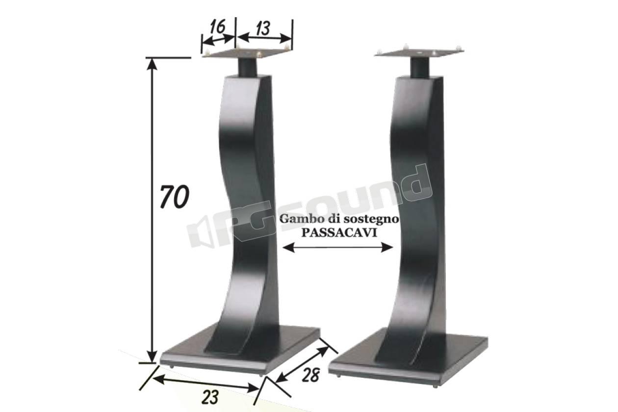 Prandini 121 piedistalli per casse acustiche supporti tv for Casse per tv