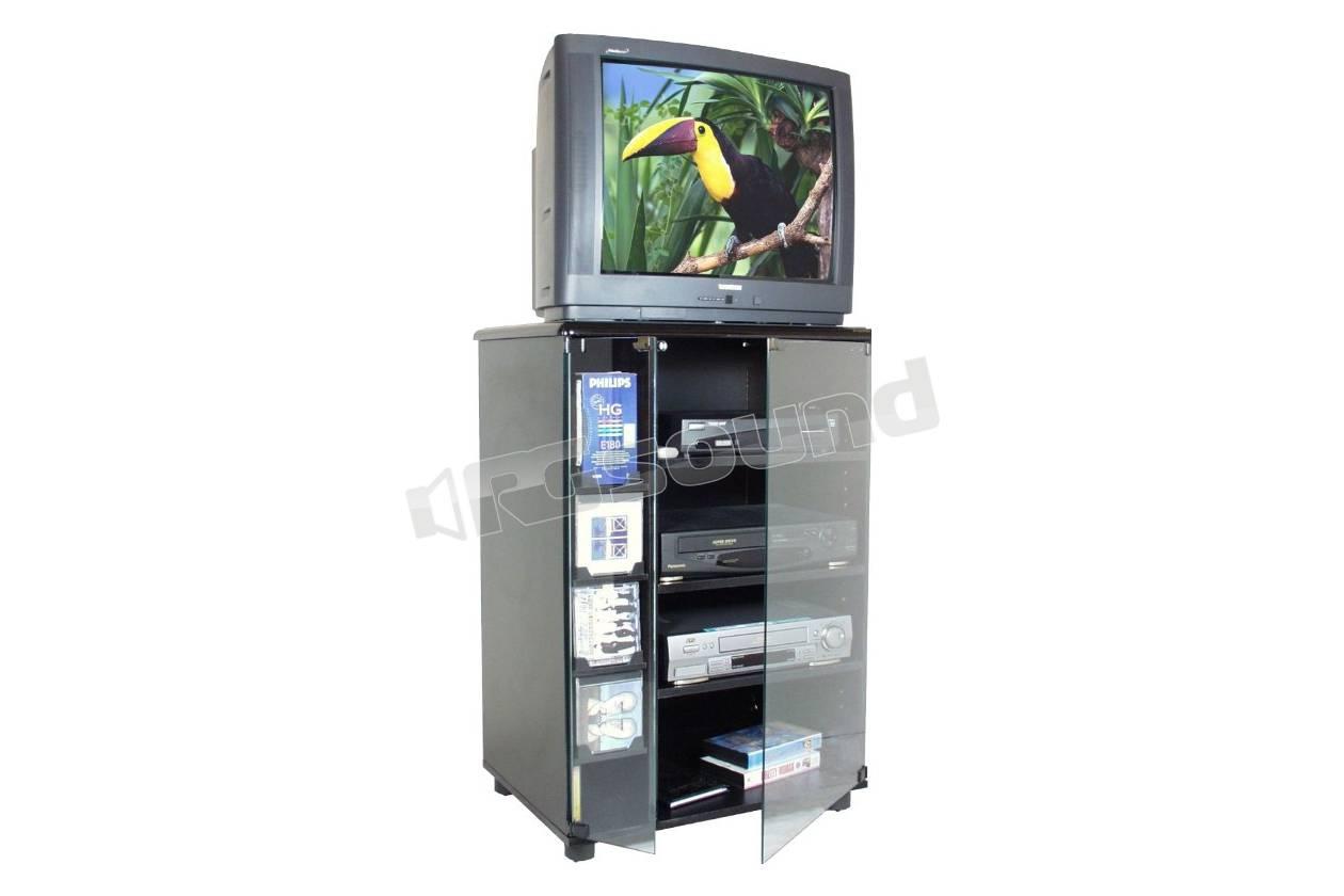 Prandini Mobili Hifi.953 Mobile Colore Nero Porta Tv E Hi Fi