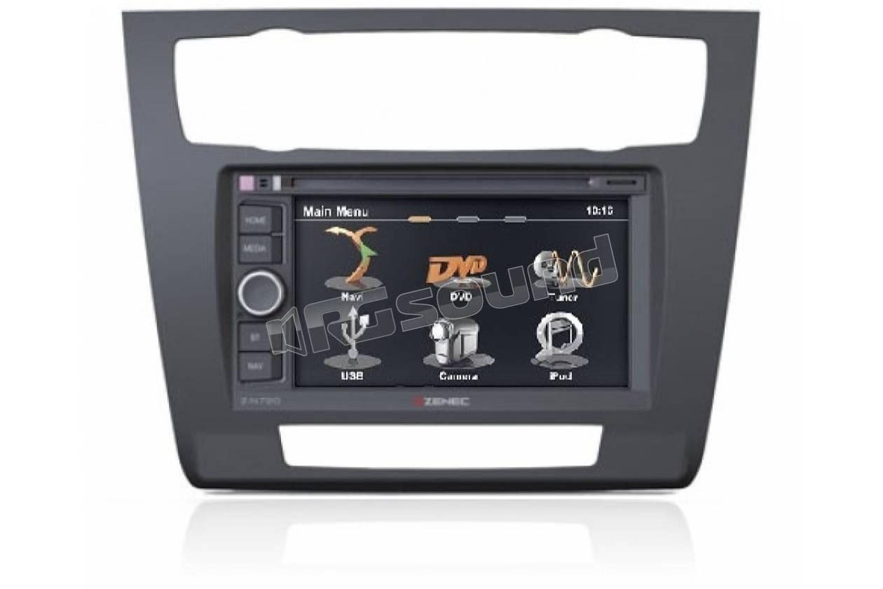 Mascherina navigatore gps 2 Din BMW Serie 1 er E81 E82 E87 E88 clima automatico