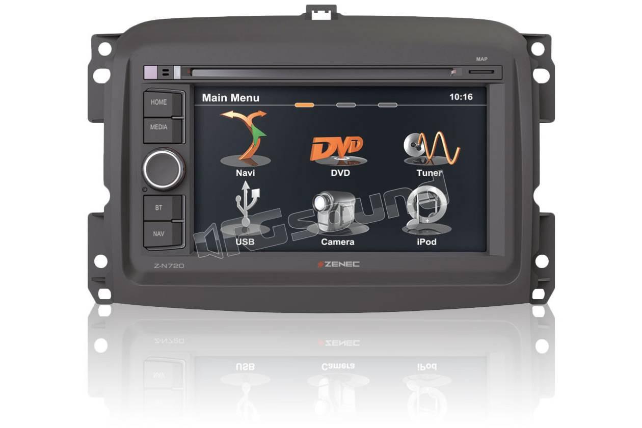 Zenec fiat 500l monitor auto 1 e 2 din car multimedia - Porta navigatore auto ...
