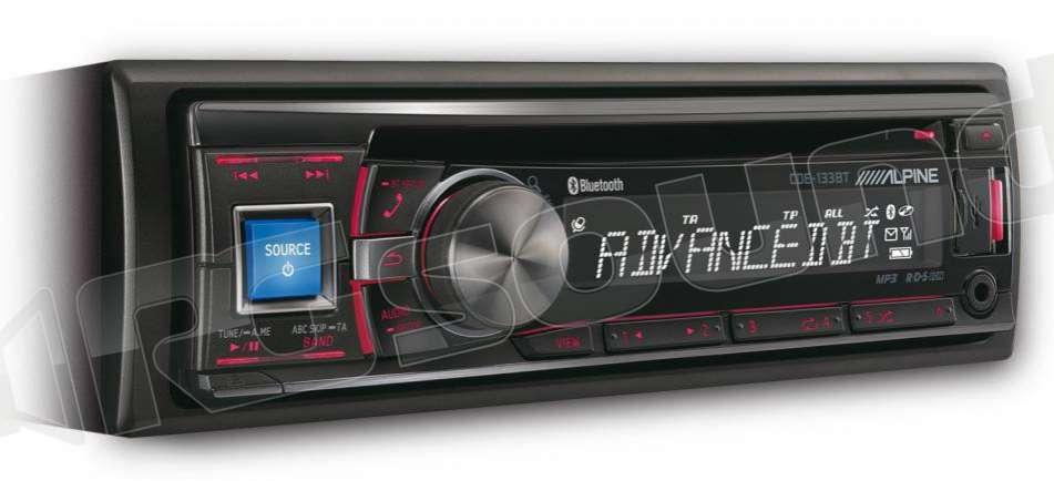 alpine cde 133bt autoradio 1 din e 2 din autoradio 1. Black Bedroom Furniture Sets. Home Design Ideas