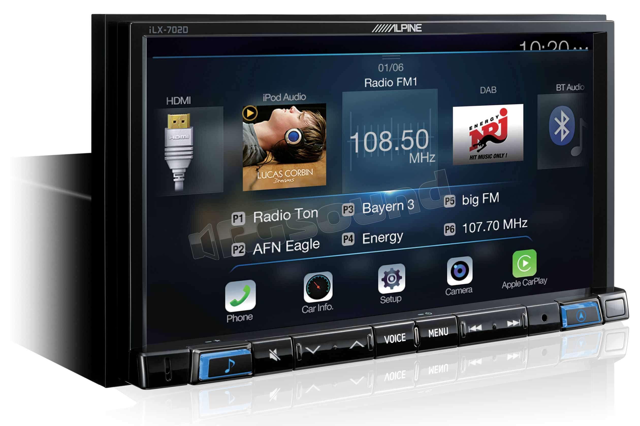 Alpine iLX-702D Apple Car Play e Android Auto | Monitor auto 1 e 2 Din Car  multimedia - Monitor 2 Din