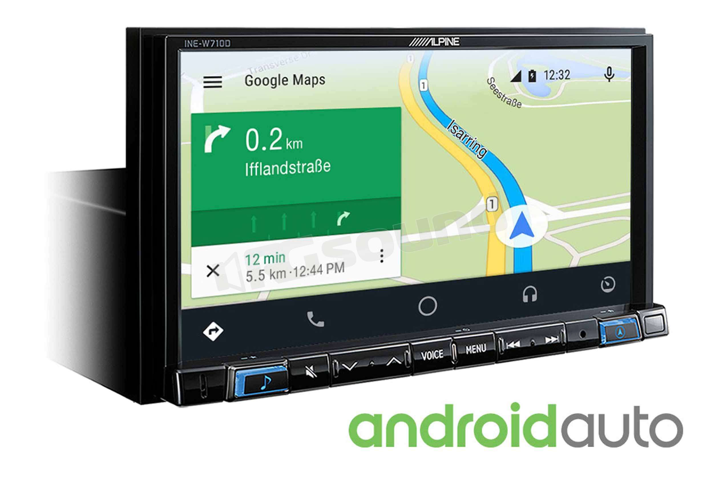 alpine ine w710d apple car play android auto monitor