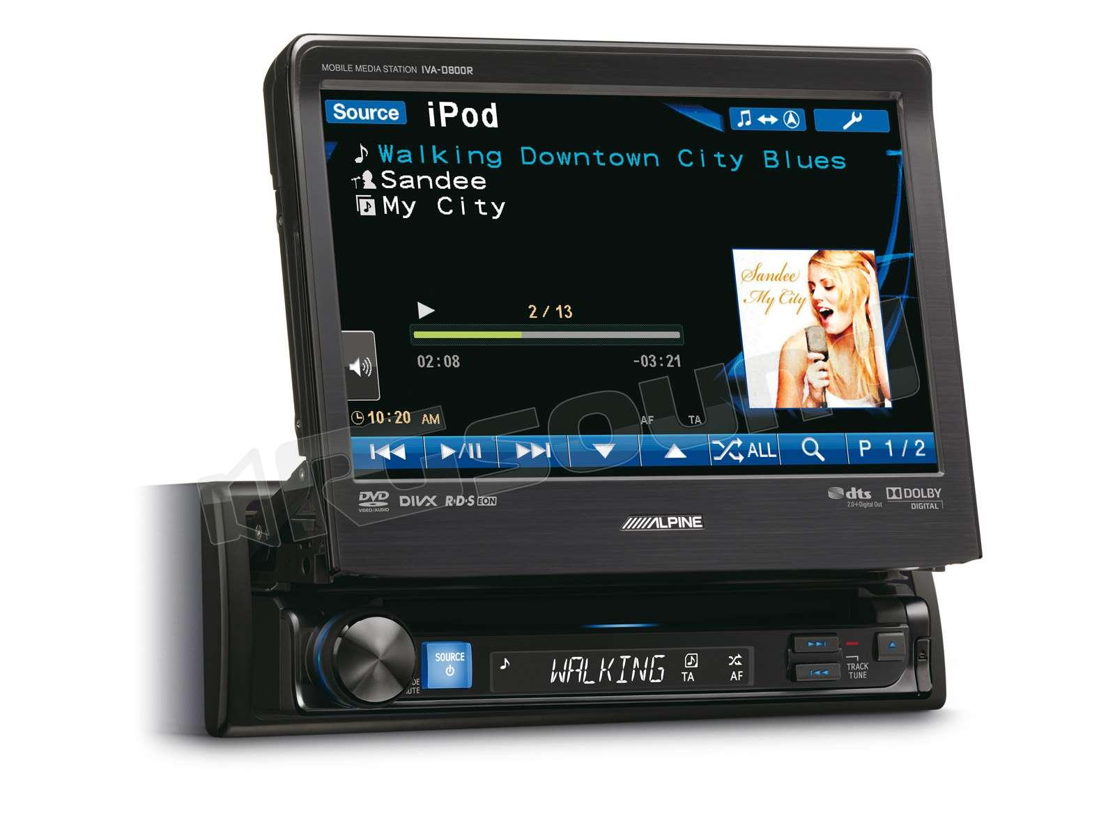 Alpine Iva D800r Monitor Auto 1 E 2 Din Car Multimedia