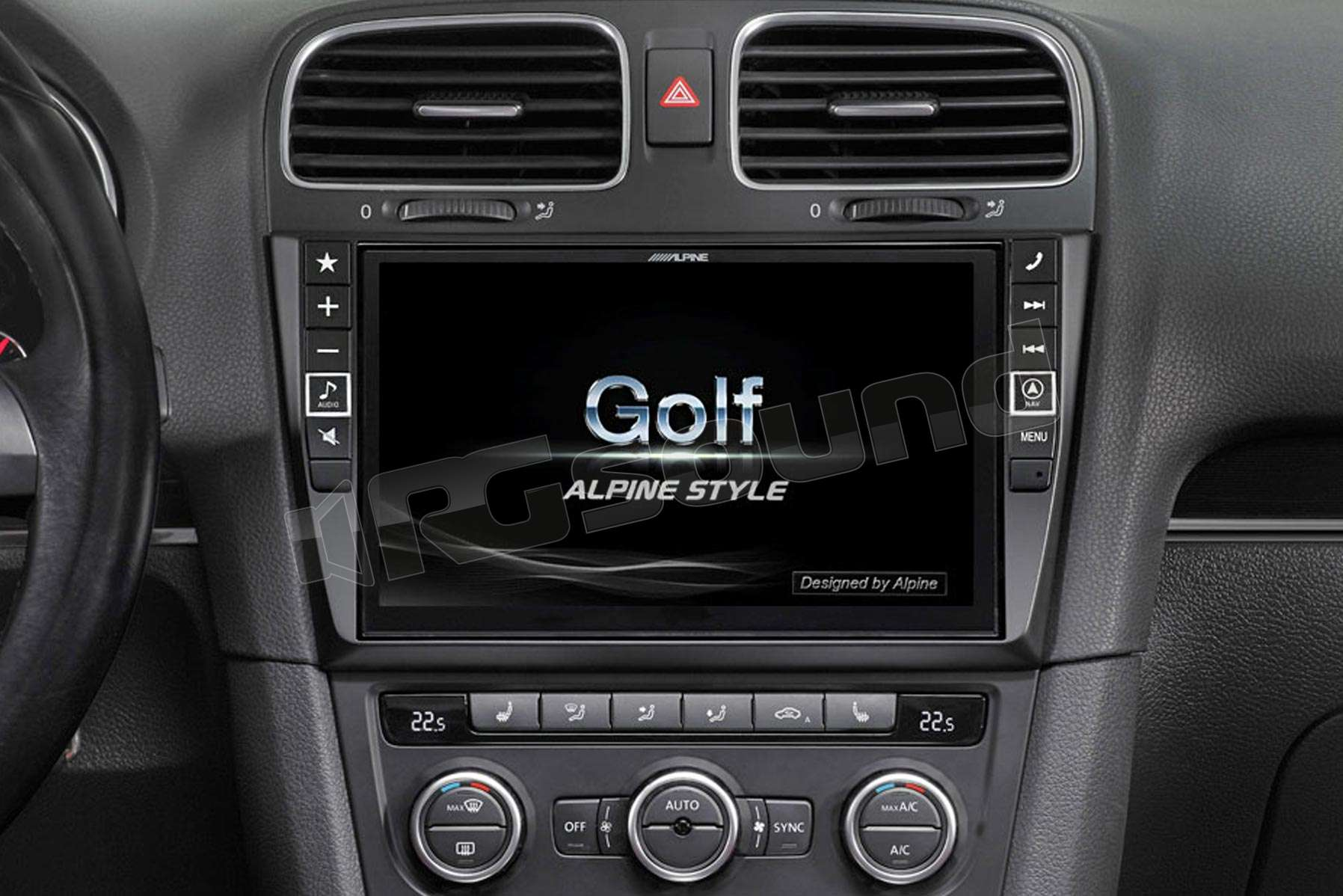 alpine x901d g6 monitor con navigazione per vw golf 6. Black Bedroom Furniture Sets. Home Design Ideas