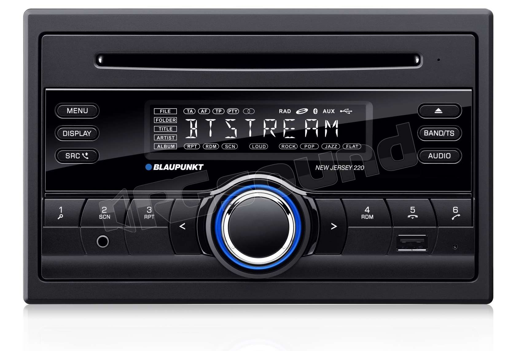 blaupunkt new jersey 220 bt sintolettore 2 din con cd. Black Bedroom Furniture Sets. Home Design Ideas