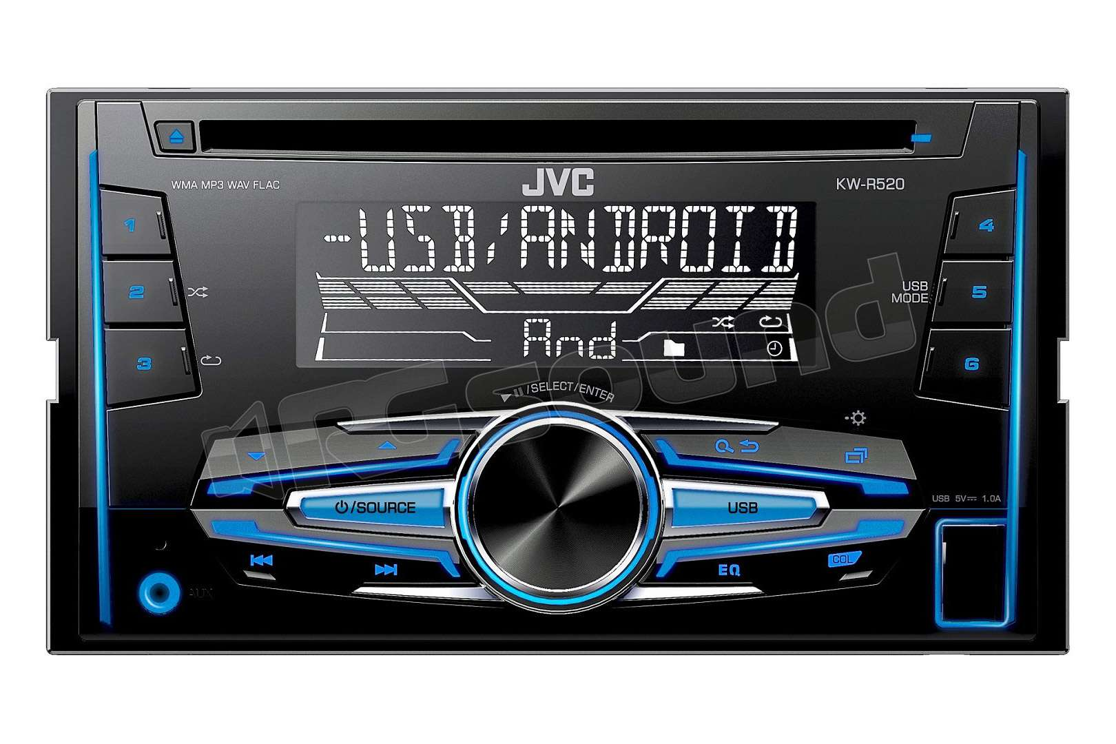 jvc kw r520 sintolettore cd 2din con usb e aux autoradio. Black Bedroom Furniture Sets. Home Design Ideas