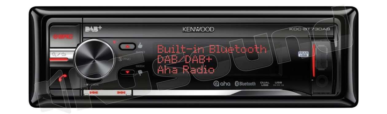 kenwood kdc bt73dab cd usb tuner dab dab e vivavoce bt. Black Bedroom Furniture Sets. Home Design Ideas