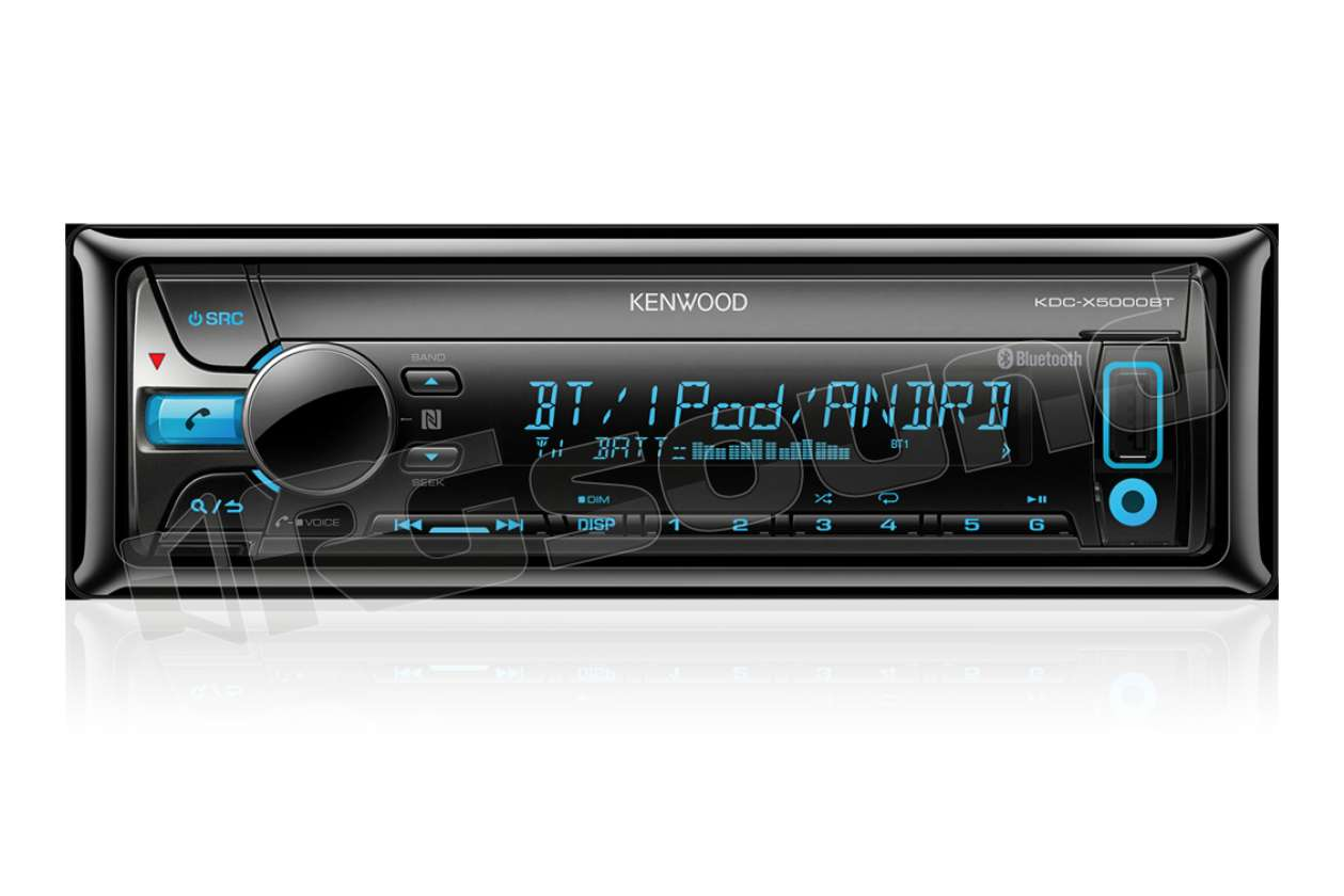 kenwood kdc x5000bt sintolettore cd bluetooth made for. Black Bedroom Furniture Sets. Home Design Ideas