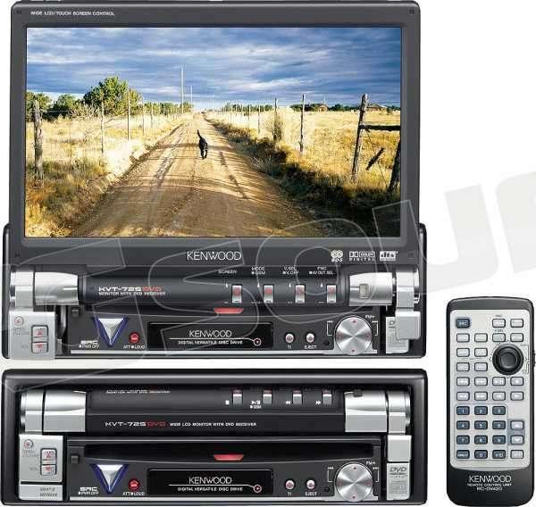 Kenwood Kvt 725 Dvd Monitor Auto 1 E 2 Din Car