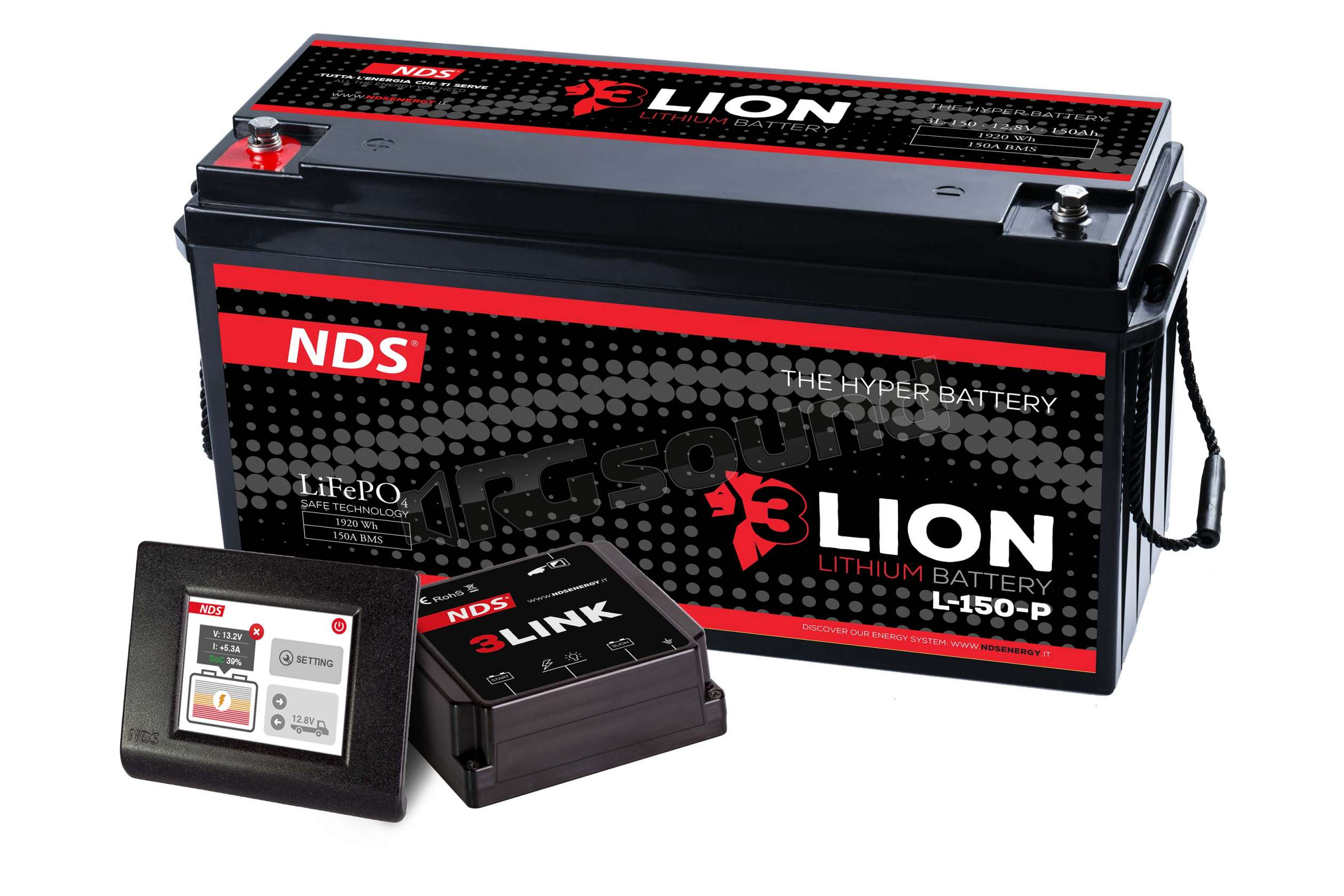Nds energy l lion u batteria al litio v ah con bms da