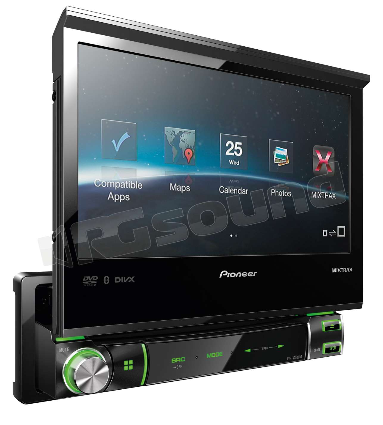 pioneer avh x7500bt lettore 1 din con monitor motorizzato. Black Bedroom Furniture Sets. Home Design Ideas