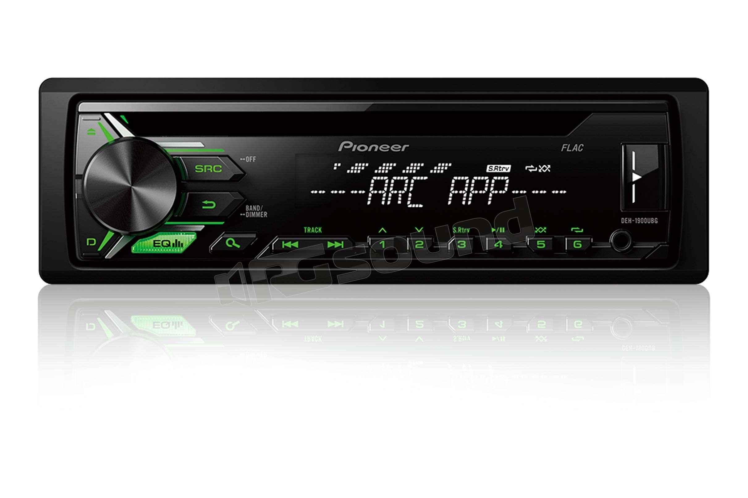 Pioneer deh ubg cd usb aux in illuminazione verde