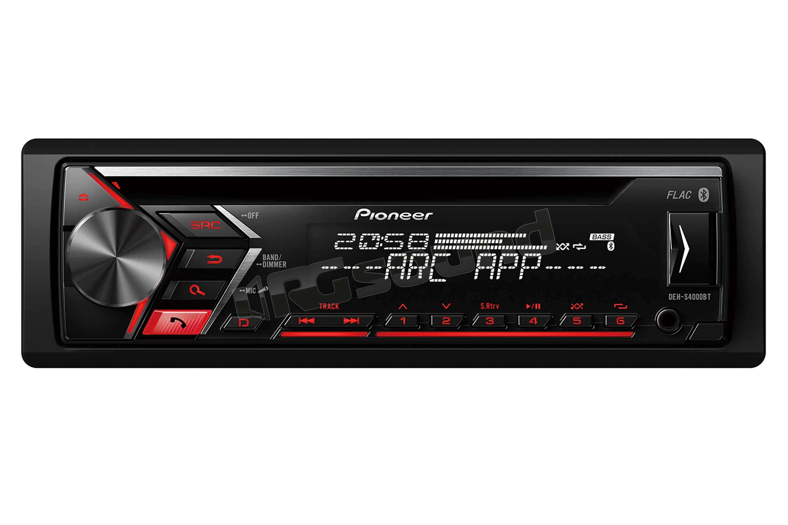 pioneer deh s4000bt autoradio 1 din e 2 din autoradio. Black Bedroom Furniture Sets. Home Design Ideas