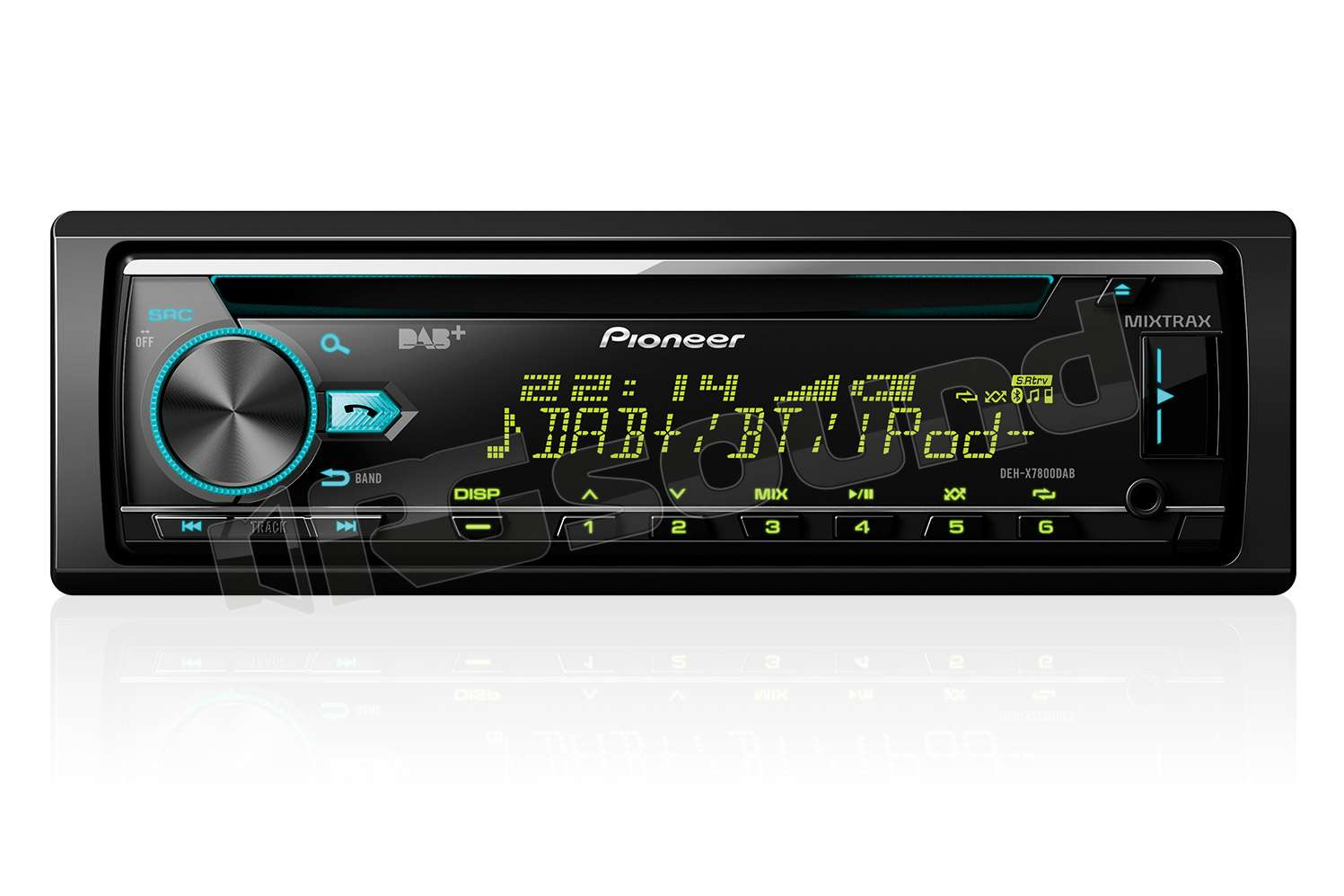 pioneer deh x7800dab autoradio 1 din e 2 din autoradio. Black Bedroom Furniture Sets. Home Design Ideas