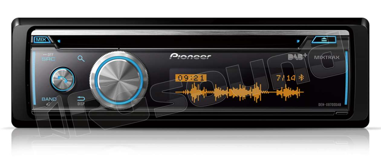 pioneer deh x8700dab cd usb bluetooth dab autoradio 1. Black Bedroom Furniture Sets. Home Design Ideas