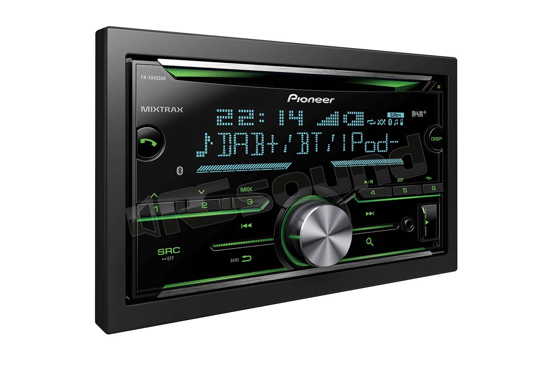 pioneer fh x840dab autoradio 1 din e 2 din autoradio 2. Black Bedroom Furniture Sets. Home Design Ideas