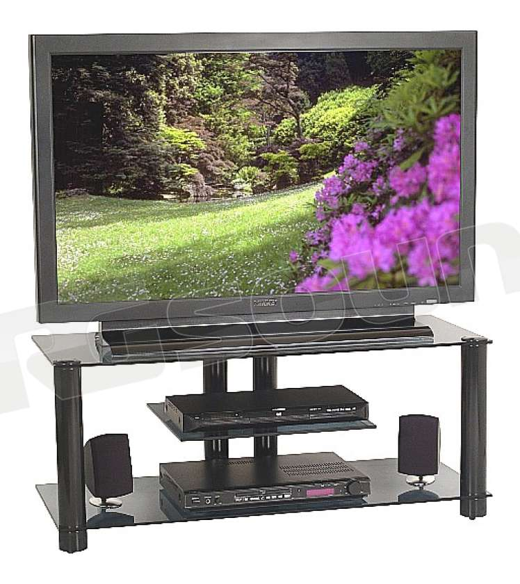 Prandini Mobili Hifi.Prandini 2019 Mobile Colore Nero Con Vetri Trasparenti Supporti Tv Lcd Plasma Proiettori Mobili Porta Tv E Hi Fi