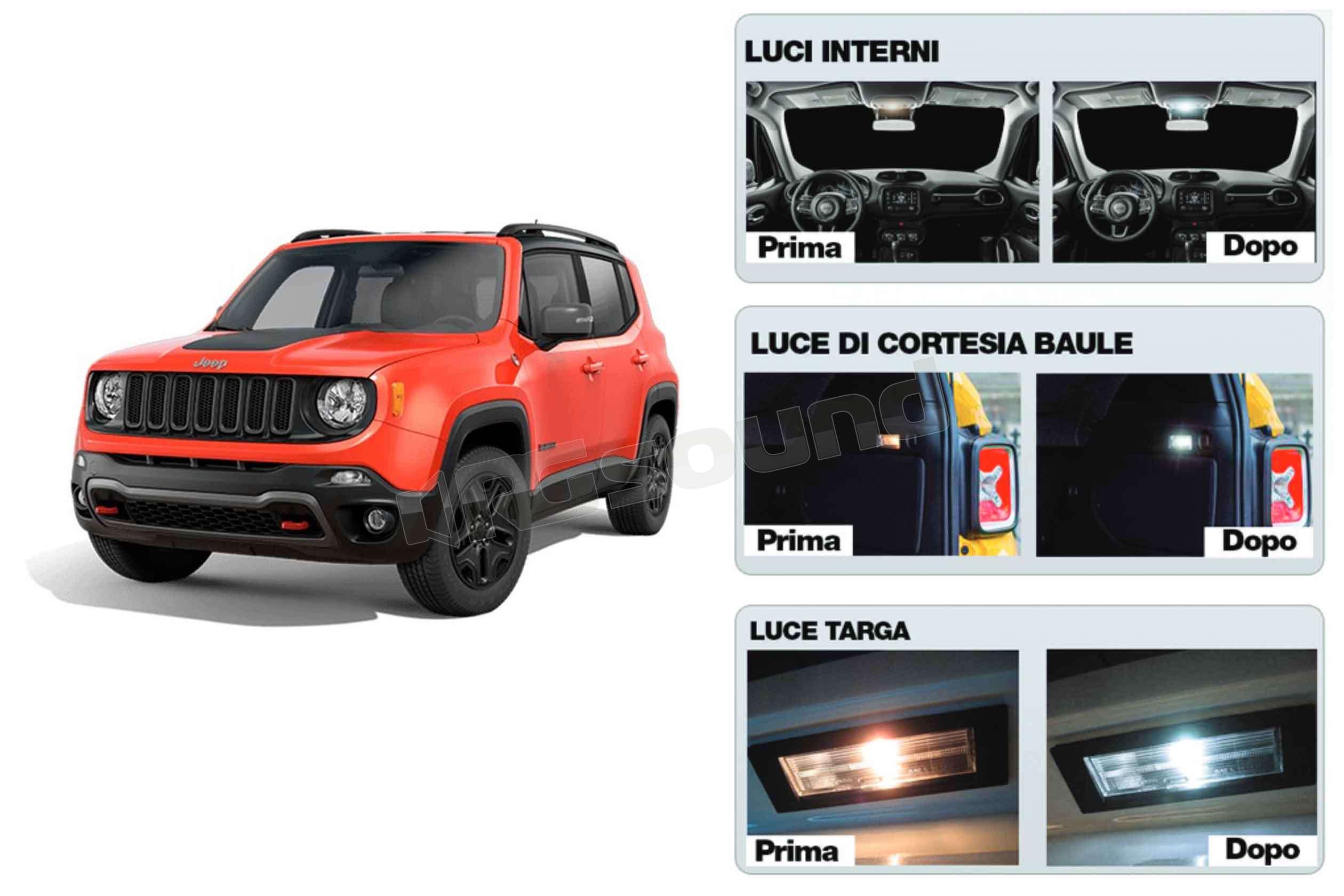 Plafoniere Interne Per Camper : Simoni racing rene int kit luci interni per jeep renegade