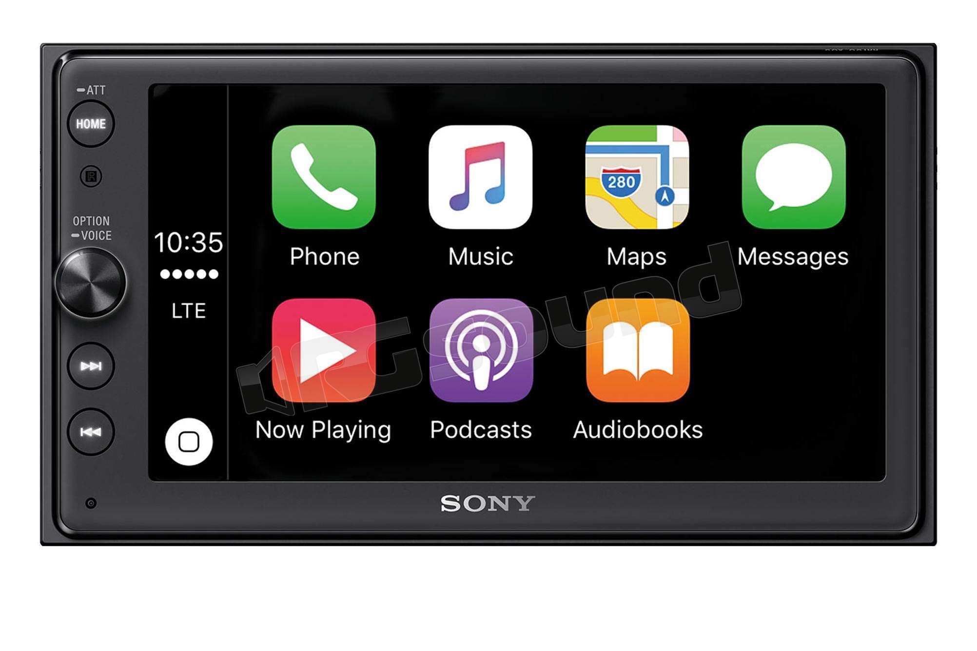 sony xav ax100 apple car play e android auto monitor auto 1 e 2 din rg sound store. Black Bedroom Furniture Sets. Home Design Ideas