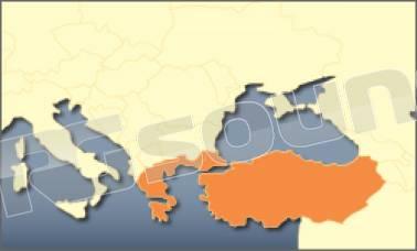 Cartina Italia Grecia Turchia.Av Map Mappa Grecia E Turchia Per Geosat 6 Geosat 5 Geosat 4 2c E Ge Rg Sound Store