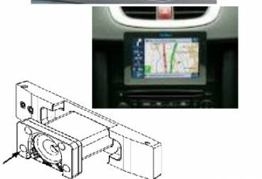 AV Map Staffa dedicata per vano DIN in car system (Peugeot 207, 307, Citroën C2 e C3) - UX0ME200AM