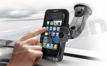 Bury Motion 4 - iPhone 4 - supporto attivo per auto con caricabatteria