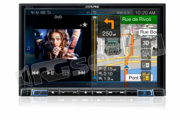 X801D-U monitor 8'' CD/DVD/DIVX, Bluetooth, navigazione, DAB/DAB+/DMB - Made for iPhone e Android
