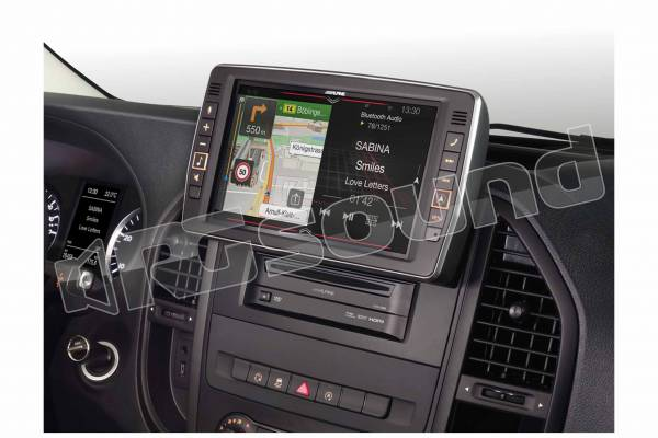 X903D-V447 monitor 9'' con navigazione, Apple CarPlay, Android Auto, per Mercedes Vito (447)