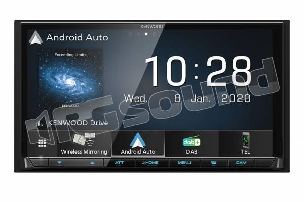 DMX8020DABS monitor 7'' con Apple CarPlay e Android Auto wireless, Bluetooth, USB, Tuner DAB+