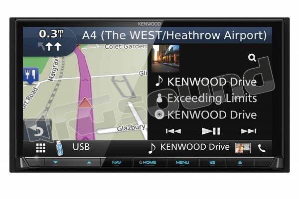 DNX8180DABS monitor 7'' con navigazione, DAB+, Bluetooth, Android Auto e Apple CarPlay, frontalino estraibile