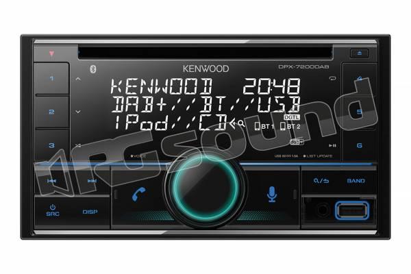 DPX-7200DAB autoradio 2 Din con lettore CD, illuminazione personalizzabile, USB, Bluetooth e Digital Radio DAB+ con antenna inclusa