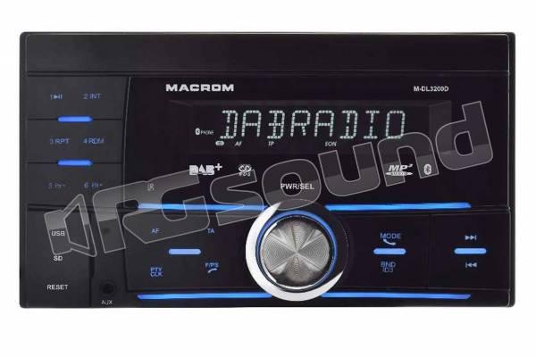 M-DL3200D ricevitore 2 ISO con USB, SD, Bluetooth e Tuner AM/FM/DAB+