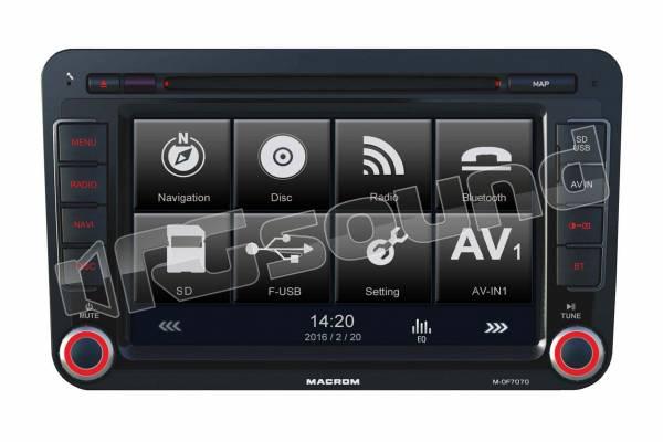 M-OF7070 monitor con navigazione per Volkswagen, Skoda e Seat